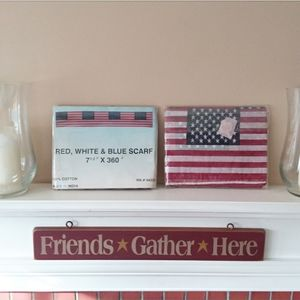 Other - Americana NWT 2 Pkgs. American Flag Banner Scarves
